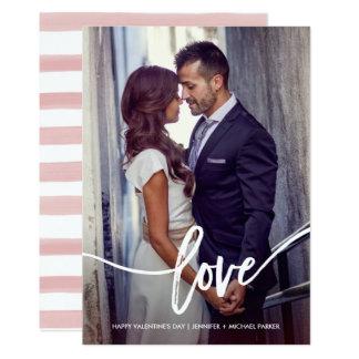 El amor de la tarjeta del día de San Valentín Invitación 12,7 X 17,8 Cm