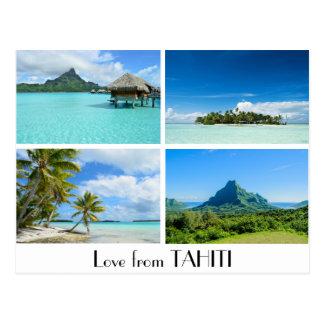 El amor de Tahití ajardina la postal