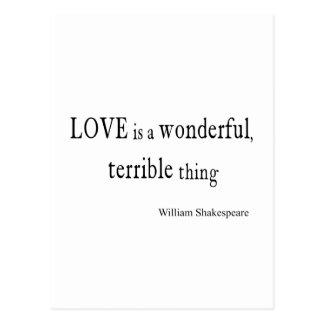 El amor de William Shakespeare es maravilloso y Postal
