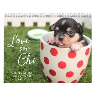 El amor del calendario 2017 de la chihuahua su ji