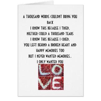 el amor del chem, mil palabras no podría traerle tarjeta de felicitación