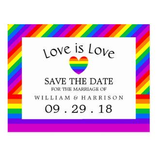El amor del corazón del arco iris es reserva del postal