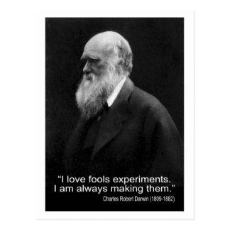 El amor del ~ I de la cita de Darwin engaña experi Tarjeta Postal