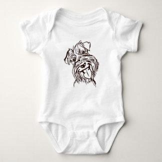 El amor del Schnauzer de mi vida Body Para Bebé
