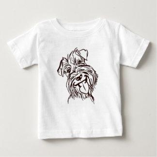 El amor del Schnauzer de mi vida Camiseta De Bebé