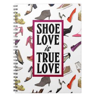 El amor del zapato es cuaderno verdadero del amor