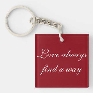 El amor encuentra siempre un llavero de la manera