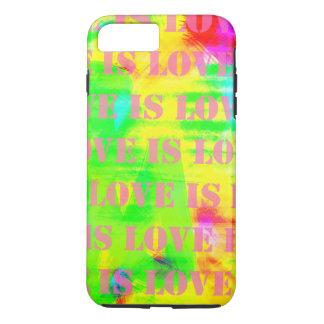 El amor es amor en colores abstractos coloridos funda iPhone 7 plus