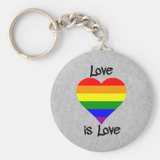 El amor es amor llavero redondo tipo chapa