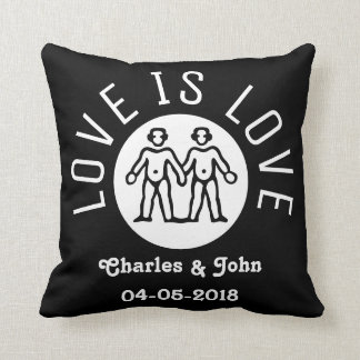 el amor es blanco negro gay del orgullo lgbt de la cojn decorativo