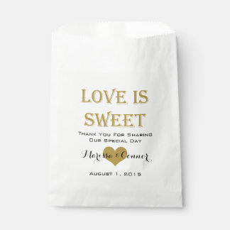El amor es bolsos dulces del boda del negro y del bolsa de papel