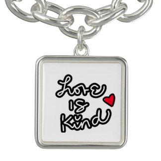 El amor es bueno pulseras con dijer