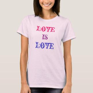 El amor es camiseta del amor
