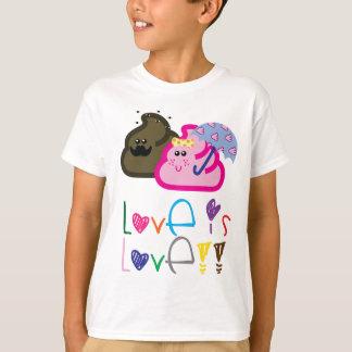 El amor es camiseta del amor: Poo y pares