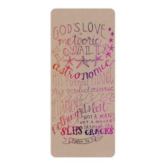 El amor es color astronómico de la impresión invitación 10,1 x 23,5 cm