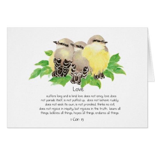 El amor es corazón de la escritura: 13 Kingbirds Tarjeta De Felicitación