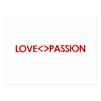 El amor es diferente que diseño de concepto de la  postal