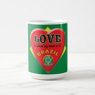 El amor es el Brasil - taza de café