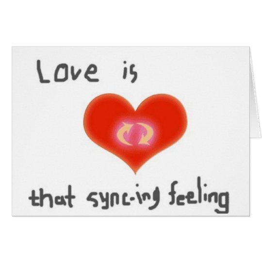 El amor es esa tarjeta de felicitación de la