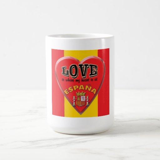 El amor es España - taza de café