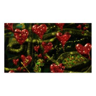 El amor es extraño - los corazones rojos en extrac tarjeta personal
