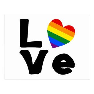 El amor es gay postal