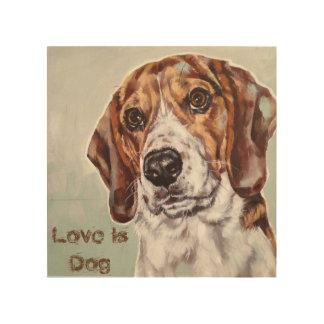 El amor es impresión de la acuarela del perro