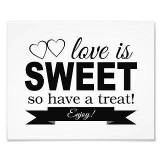 El amor es impresión dulce de la foto de la