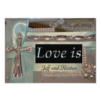 El amor es… Invitación del menta y de la bodas de