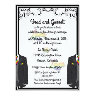 El amor es invitaciones gay del boda del amor invitación 16,5 x 22,2 cm