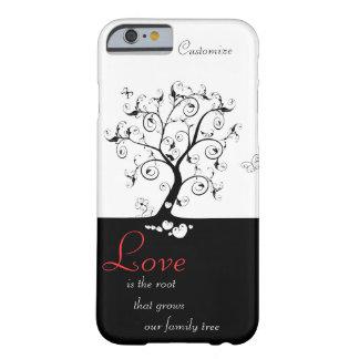 El amor es la raíz funda de iPhone 6 barely there