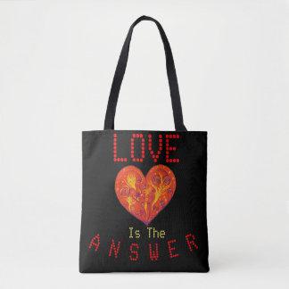 El amor es la respuesta bolso de tela