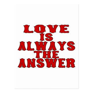 El amor es la respuesta tarjetas postales