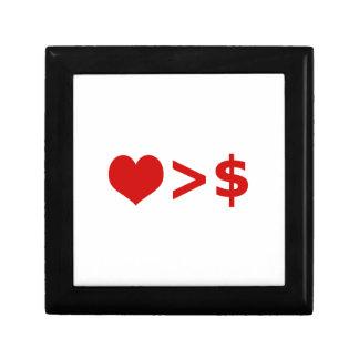 El amor es más importante que concepto del dinero cajas de regalo