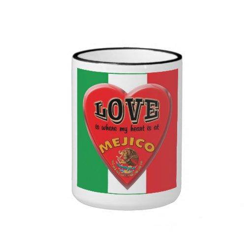 El amor es México - taza de café
