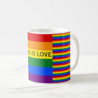 El amor es orgullo gay de la bandera LGBT del arco