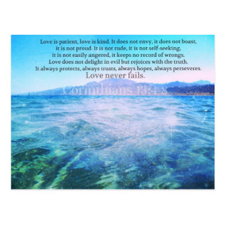 El amor es paciente, amor es verso de la biblia de postal