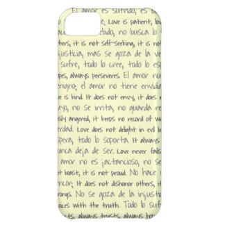 El amor es paciente, EL Amor es bilingüe de Sufrid Funda Para iPhone 5C
