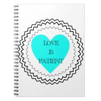 El amor es paciente libro de apuntes con espiral