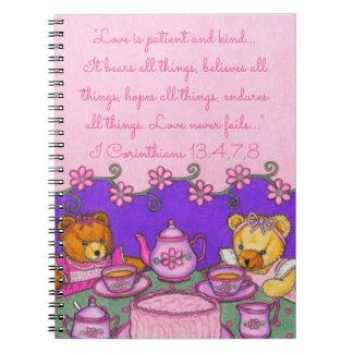 El amor es paciente y Kind~Bears todo el fiesta de Cuaderno