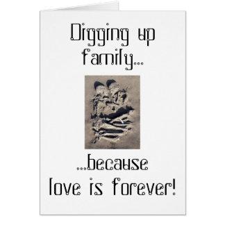 El amor es para siempre línea tarjeta de felicitación