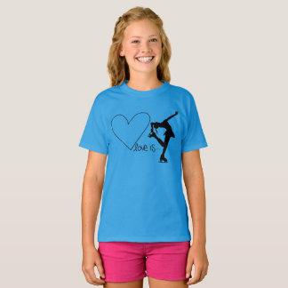 El amor es patinaje artístico, con el corazón - camiseta