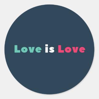 El amor es pegatina del amor