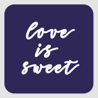 el amor es pegatina dulce