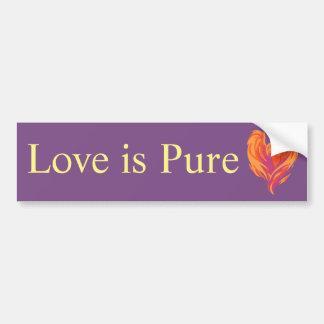 El amor es pegatina para el parachoques pura