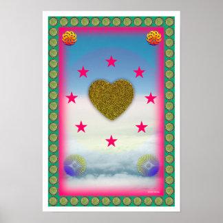 El amor es poster del arte curativo de la paz póster