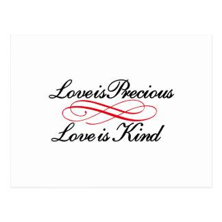 El amor es precioso postal