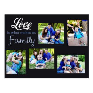 El amor es qué nos hace el collage de la familia postal