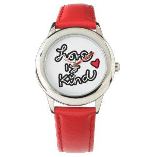 El amor es reloj rojo bueno de los deportes
