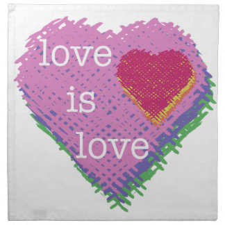 El amor es servilleta del paño del corazón del
